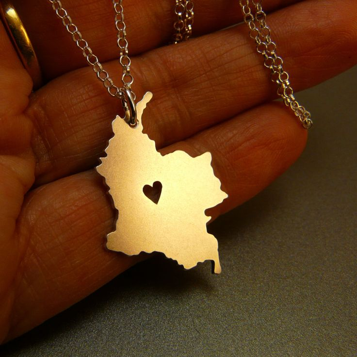 Colombia++sterling+silver+necklace++sterling+silver+by+StefanoArt,+$45.00