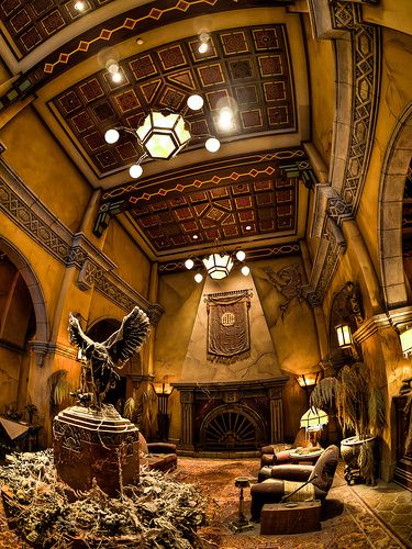 Tower of Terror Loby - California Adventure. The detail in this room is amazing.