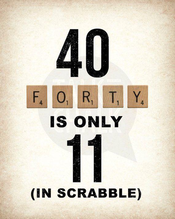 40th Birthday PRINTABLE Sign Pack 40th Birthday DIGITAL Etsy