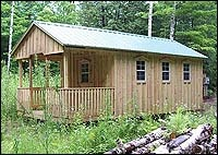 AmishSheds.ca - Quality built wood sheds by the Amish of Pennsylvania. Good bunkie candidate.