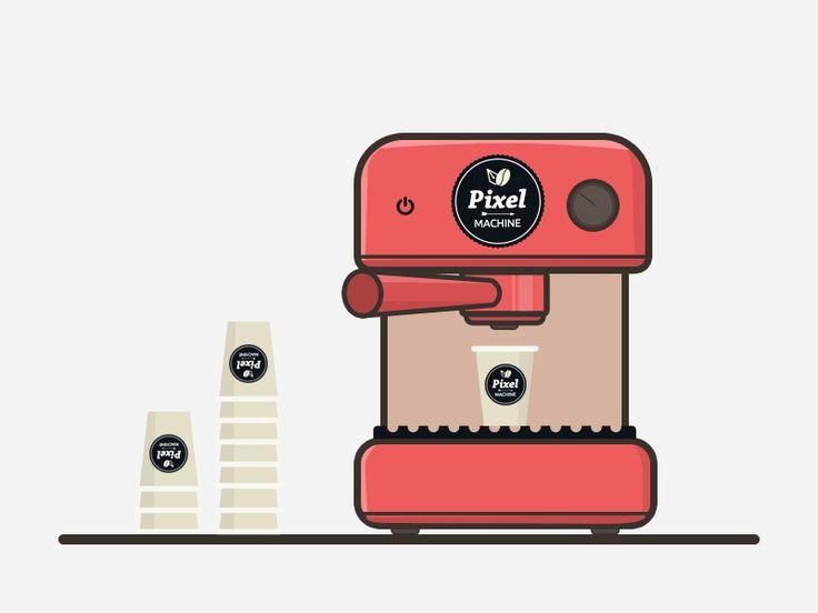 Coffee machine design gif