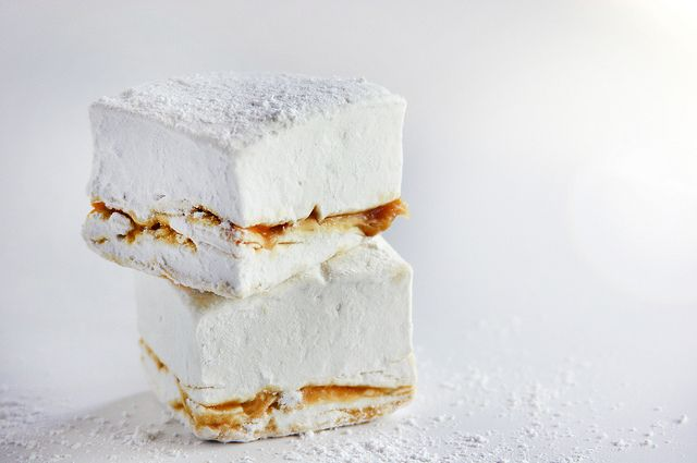 Homemade marshmallows: earl gray & lapsang souchong salted caramel