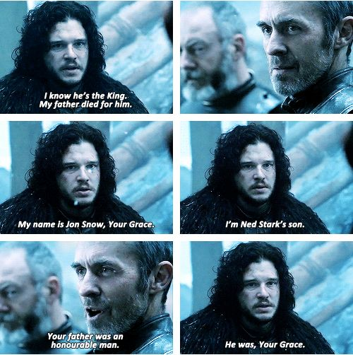 I have this gut feeling the Ned Stark is really his uncle not his father. I think Ned's sister died in childbirth and that baby is Jon Snow. But maybe I'm wrong.