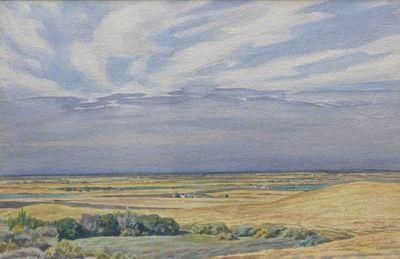 Untitled Prairie Scene by Ernest Lindner