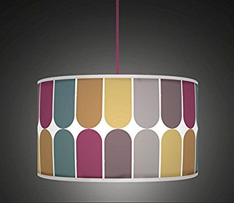 "50cm (20"") Bold Subtle Colours Retro Geometric Handmade Printed Fabric Lamp Drum Lampshade Floor or Ceiling Pendant Light Shade 56430cm Bold Subtle Colours Retro Geometric Handmade Printed Fabric Lamp Drum Lampshade Floor or Ceiling Pendant Light Shade Large Lampshade564: Amazon.co.uk: Lighting"