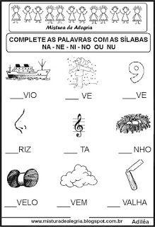 Sequência silábica lacunada letra N