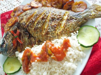 Nigerian Grilled Fish, My 12 year old son caught 4 Croaker Fish so decided to fix this an the flavors where awesome together with the fish.
