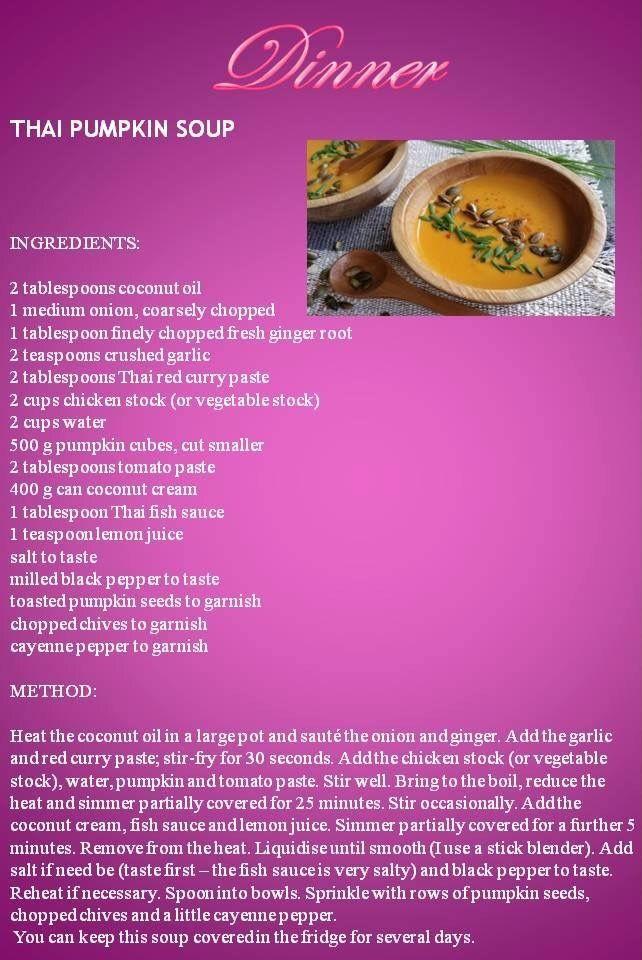 Thai pumpkin soup by Anina Den Heyer