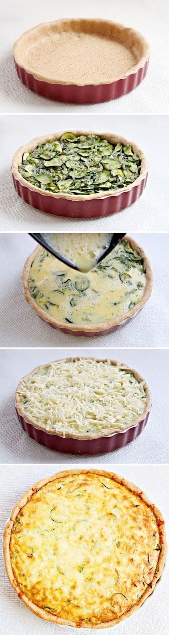 How To Make Super Zucchini Quiche - delicious, dinner, food recipe, recipes
