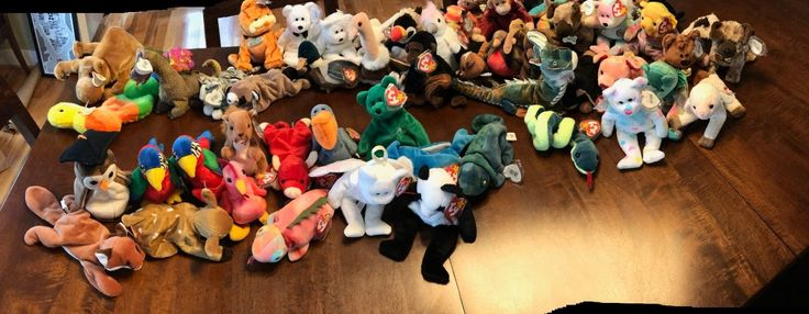 Beanie Babies Collection with Rare Mis-printed and Valuable Beanies.