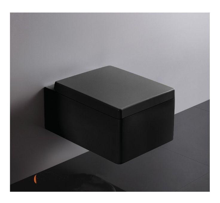 Abattant noir rectangulaire pour wc suspendu kube plomberie sanitaire chauf - Sanitaire wc suspendu ...