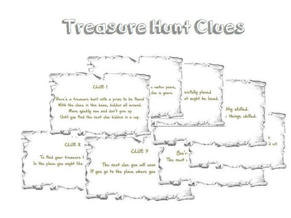 Best 25 Treasure Hunt Clues Ideas On Pinterest Scavenger Hunt