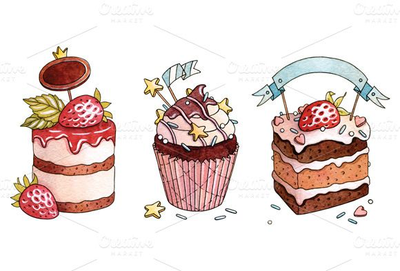377 best images about Illustrations : Cakes, Snack ...