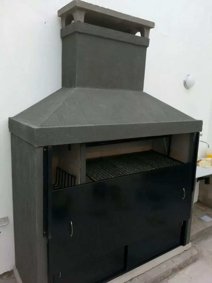 Parrilla Diseño Lineas Rectas, 1,80m Con Fogón Excelente!! - $ 14.599,00 en Mercado Libre