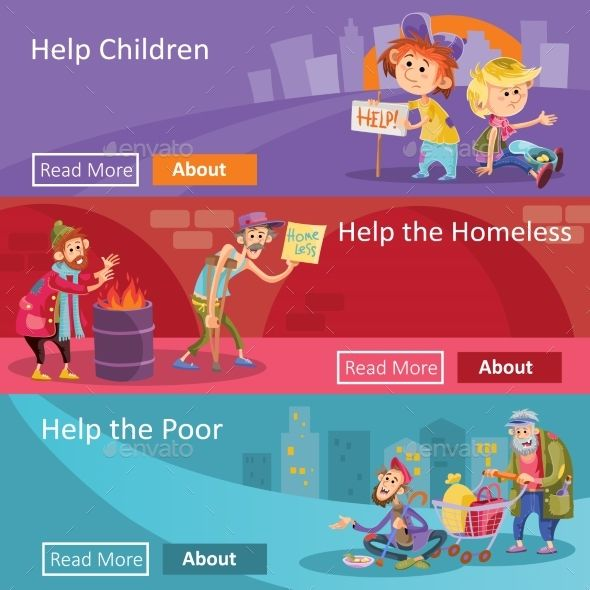 Help For Homeless And Poor People Vector Poor People Charity