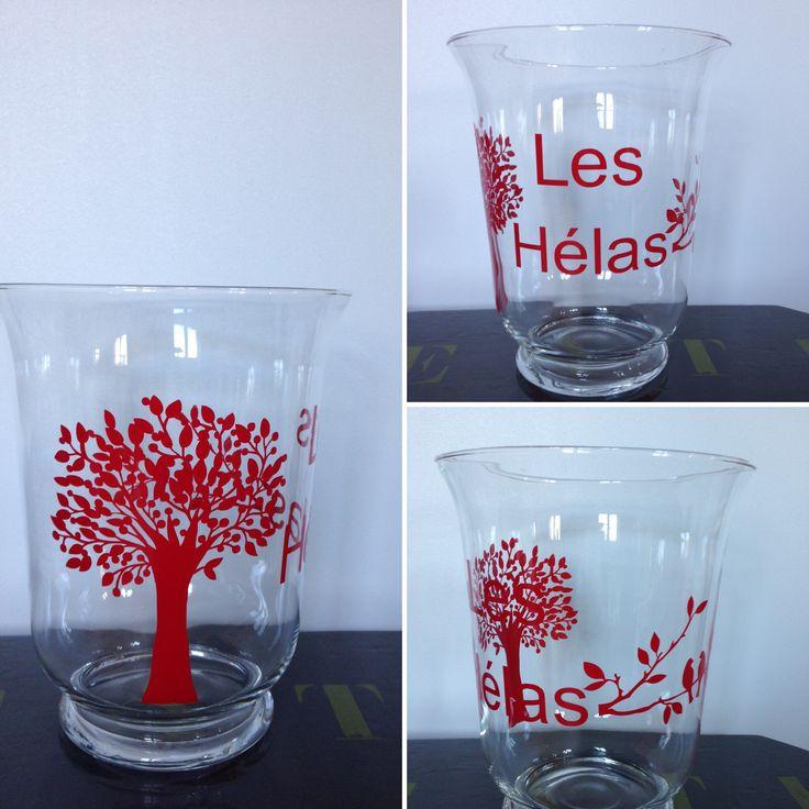 Photophore/vase personnalisable une étoile m' a dit. Pour commander page Facebook ou mail à uneetoilemadit@hotmail.fr