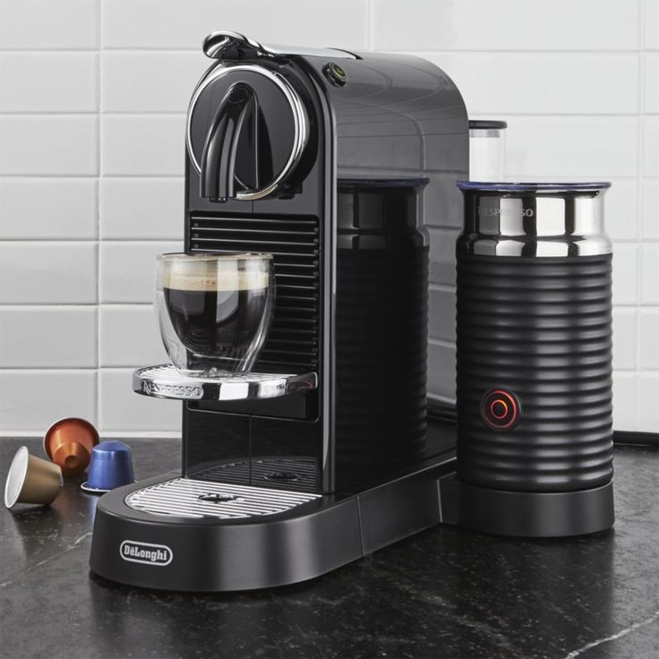 Free Shipping. Shop Nespresso ® by Delonghi Citiz Black Espresso Machine with Milk Frother.