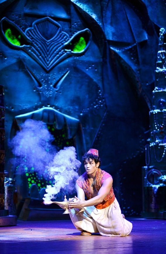 The New Broadway Musical Aladdin with Adam Jacobs as Aladdin.