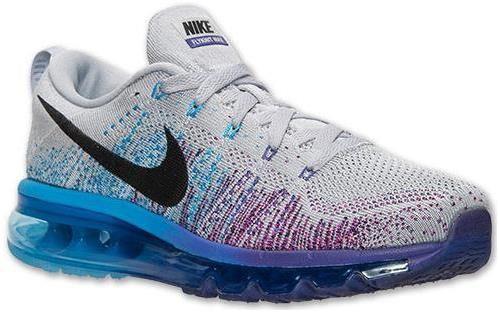 Nike Women Flyknit Air Max Grey Purple Blue