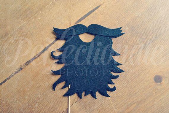Felt Lumberjack Beard Prop  Pirate Beard Prop  by Perfectionate