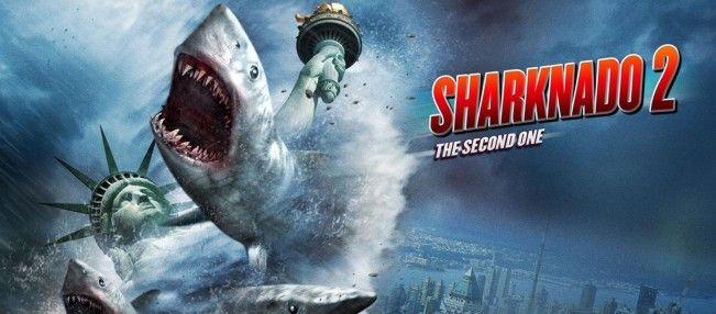 Découvrez les réactions des téléspectateurs américains au téléfilm #Sharknado2TheSecondOne.#Sharknado2