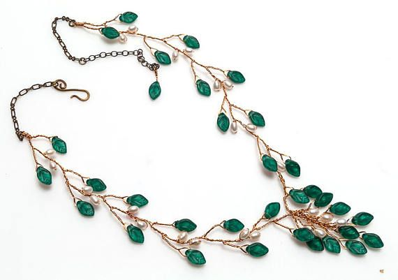 Floral necklace flower jewelry Gift statement bib handmade woodland anniversary Nature statement strand Mothers Day Gift Flowers necklace