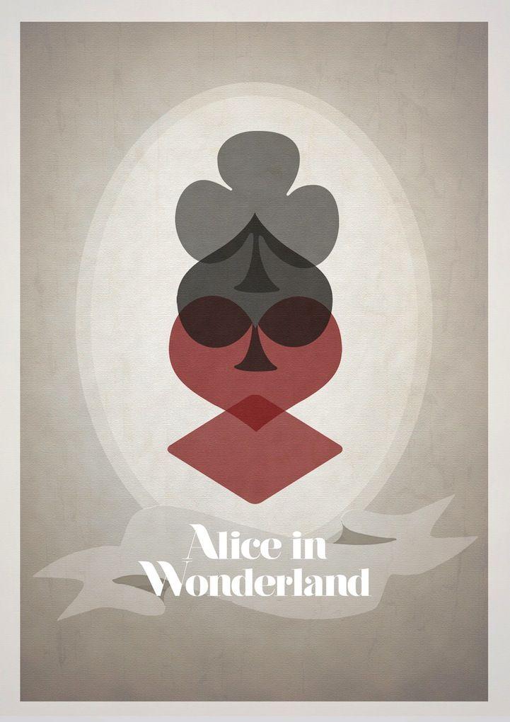 Alice in Wonderland /// From English designer Rowan Stocks Moore's series of quaint Disney film posters.