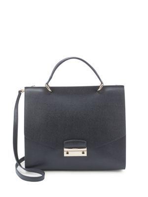 FURLA Julia Square Leather Handbag. #furla #bags #shoulder bags #hand bags #leather #