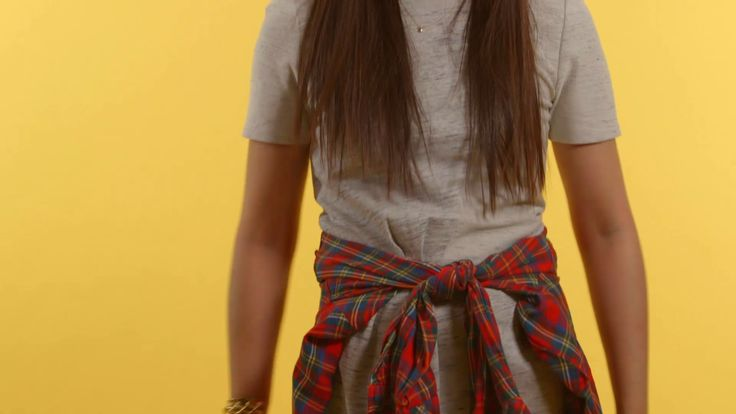 How to tie a flannel around your waist