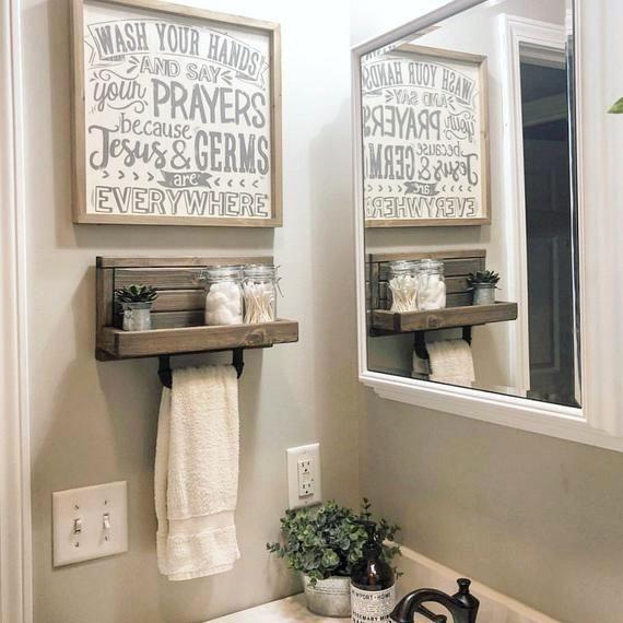 Pin By Linda B On Home Decor Small Bathroom Decor Kitchen Towel