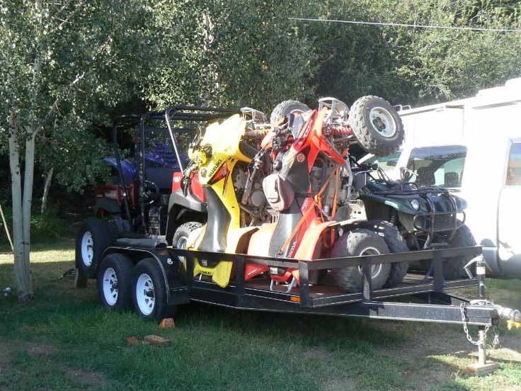 Packing out UTV, fourwheelers, bikes, and kayaks on one