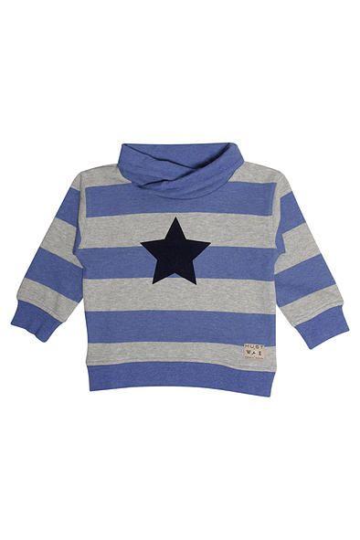 Hust & Claire jongenskleding. Stoere sweater uit de jongens wintercollectie 2015 van #HustandClaire. Verkrijgbaar in de winkel & webshop van #KikiBo (www.kikibo,nl).
