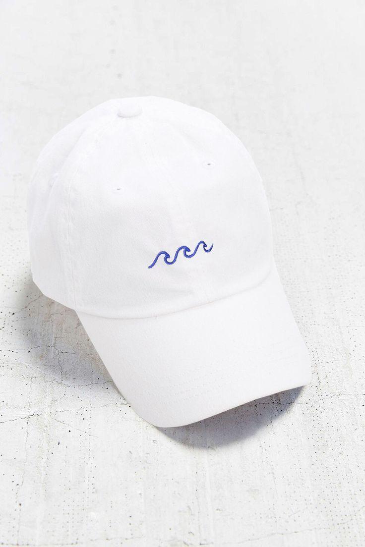 Wave Baseball Cap  Embroidered Baseball Caps  Baseball Hat  White  Baseball Cap  Tumblr