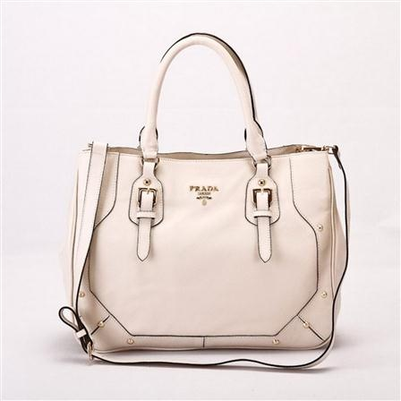 ACHICA | PRADA Tote Bag, White somebody buy me this!!