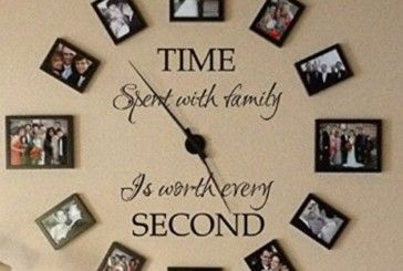 Family Photo Clock Perfect For A Favourite Space