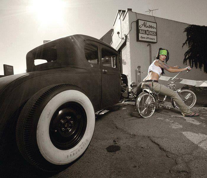 girl dickies low ride bike original pant hot rod. Black Bedroom Furniture Sets. Home Design Ideas