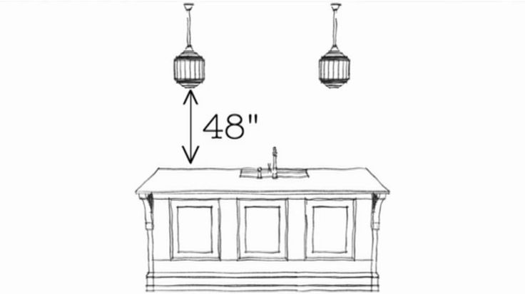 proper height for a pendant