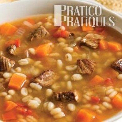 Soupe boeuf et orge - Recettes - Cuisine et nutrition - Pratico Pratique