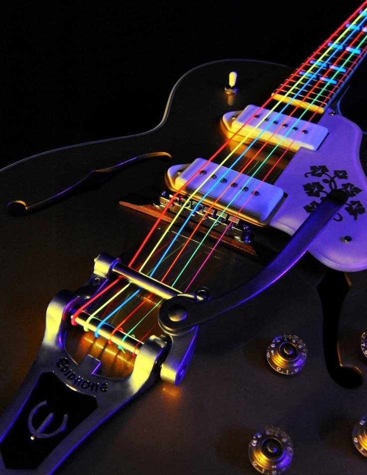 black neon electric guitar - photo #40