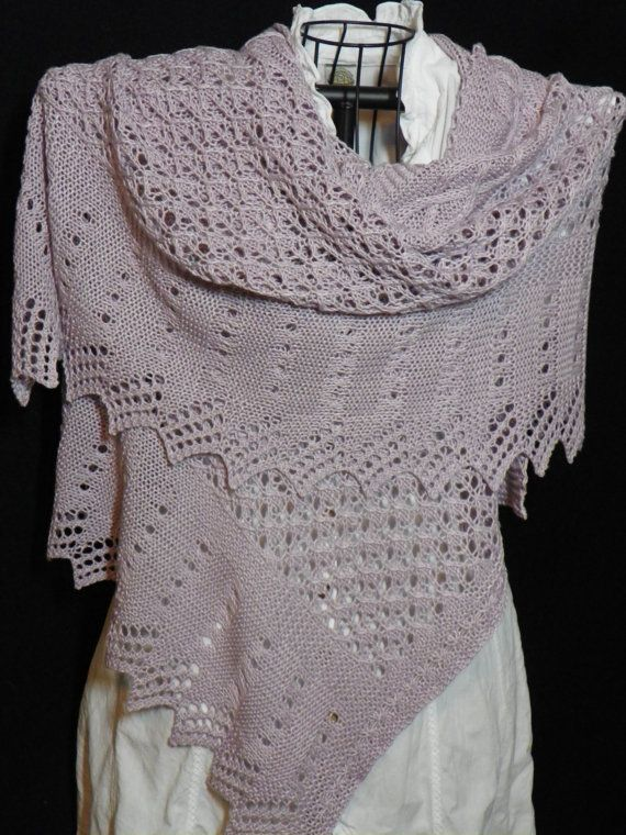 Pattern to Knit Lace Shawl Wrap You Up PDF by suelillycreations, $4.25