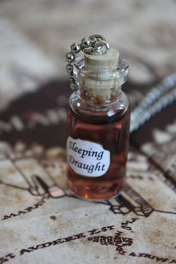 Harry Potter Potion - Sleeping Draught Vial Necklace. $14.00, via Etsy.