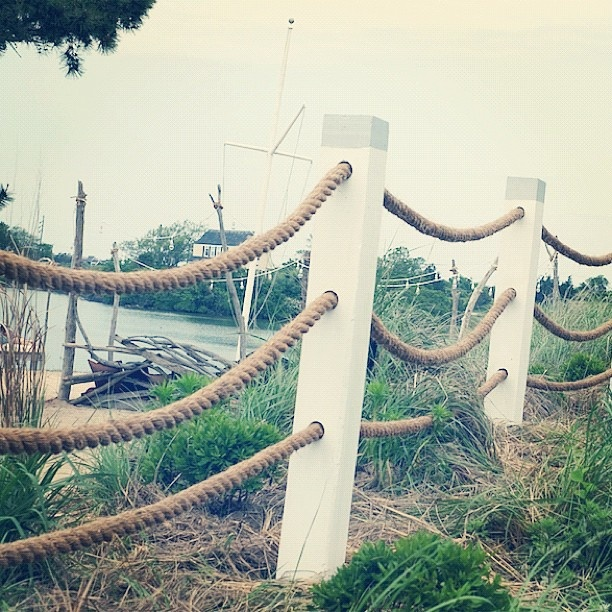 This new rope-fence is one of many changes Brook Klausing, the property's new creative director, has already implemented at The Surf Lodge.