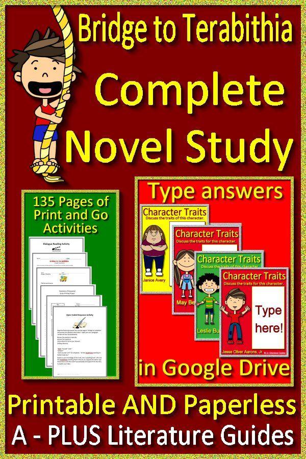 Bridge To Terabithia Novel Study Printable Google Classroom