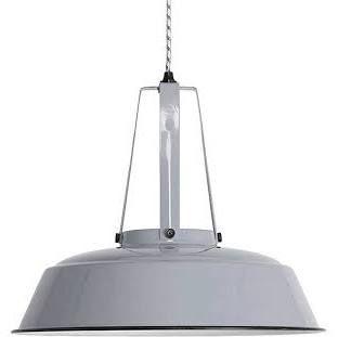 Industriële Lamp - Grijs HK Living -  snoer verlengen met strijkijzersnoer