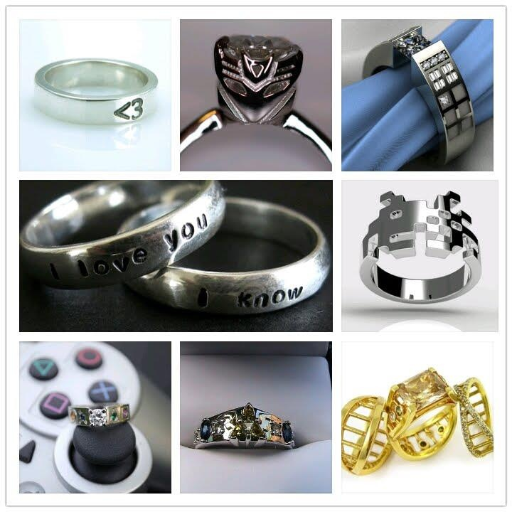 rings for ring the sound discovergeek wave fullxfull geeky offbeat il bride nerd engagement