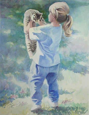 Watercolor, art, painting, Florida, Colorado, animals, cats, children, dogs, architecture, seascapes, flowers