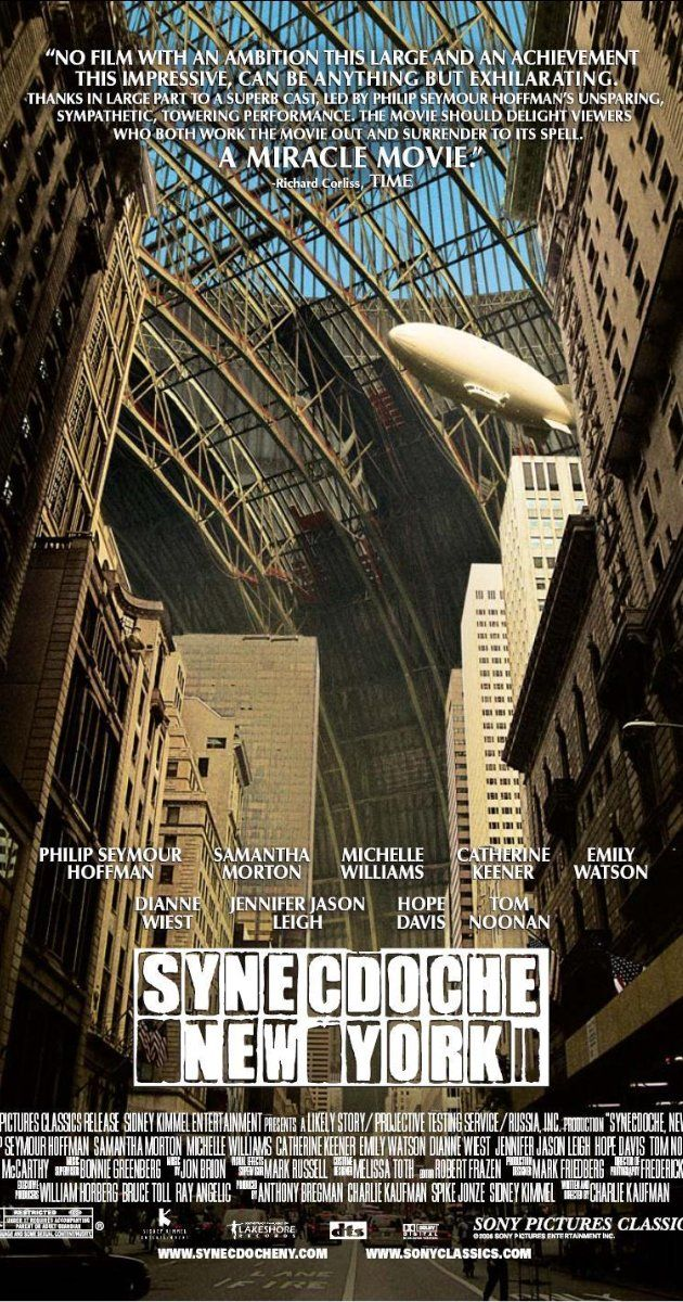 Synecdoche, New York (2008) Poster. Directed by Charlie Kaufman, Starring  Philip Seymour Hoffman, Samantha Morton, Michelle Williams
