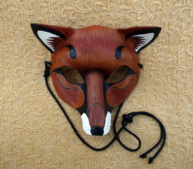 Red Fox Leather Mask ...handmade leather fox mask. $115.00, via Etsy.