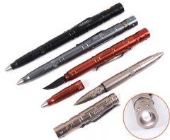 Laix caneta tática exterior EDC multi-ferramenta W / quebra de vidro de aço de tungstênio / faca de lâmina 60lm LED Lanterna,Ferramentas EDC