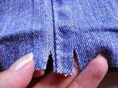 Truco para evitar abultamientos al hacer el dobladillo de los pantalones vaqueros | Aprender manualidades es facilisimo.com
